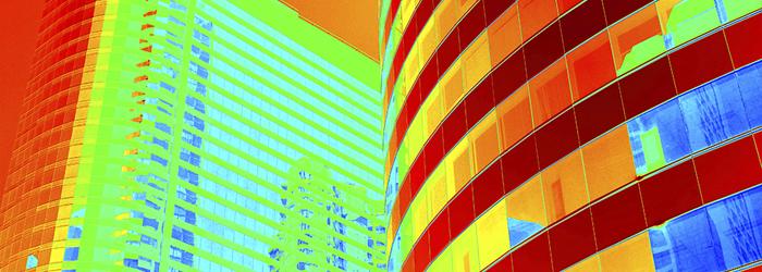 Thermal image of buildings