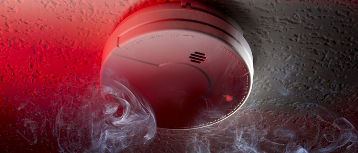 Smoke alarm installation.