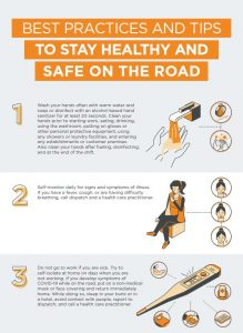 NBI- Best practices and tips to stay healthy and safe on the road infographic