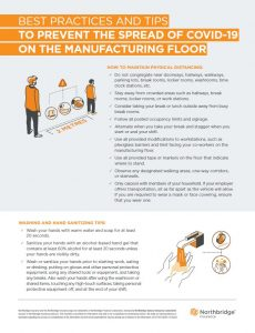 NBI- Best practices and tips to prevent the spread of covid-19 on the manufacturing floor checklist