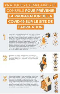 pratiques exemplaires et conseils pour prévenir la propagation de la covid-19 sur le site de fabrication