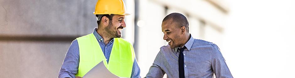 Surety two men construction site