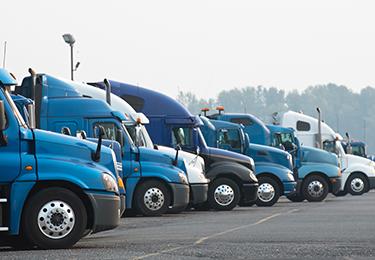 A fleet of long haul trucks.