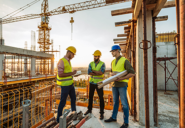 contractors on construction site