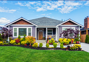 The front of a bungalow home.
