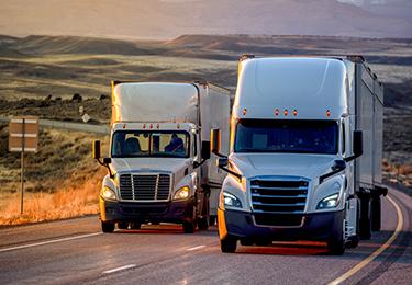 Transportation two tracker trucks